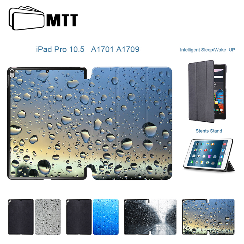 Simulation Raindrop Leather Cover For Apple iPad Pro 10.5 inch 2017 / iPadPro 10.5 Tablet Case Pu Flip Stand Protective sleeve arrival selling ultra thin super slim sleeve pouch cover microfiber leather tablet sleeve case for ipad pro 10 5 inch