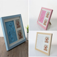 Newborn Baby Handprint Footprint Pad Hand & Footprint Makers Safe Clean Non Toxic Touch Ink Pad Photo Frame Handprint Mud Suit