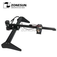 ZONESUN Mini Desktop CNC Router Madeira Selo de Papel Máquina de Corte de Gravação A Laser Máquina de Marcação de Impressora DO LOGOTIPO DIY 30*40 cm
