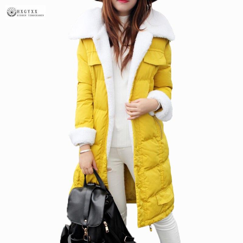 Ukraine Promotion New 2017 Winter Coat Women Plus Size Outerwear Female Medium-long Wadded Jacket Cashmere Warm Parkas Ok906