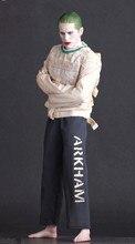 цены на 30cm Crazy Toys Suicide Squad The Joker Variant Genuine Arkham Asylum Mental Hospital Joker PVC Action Figure Toy Doll