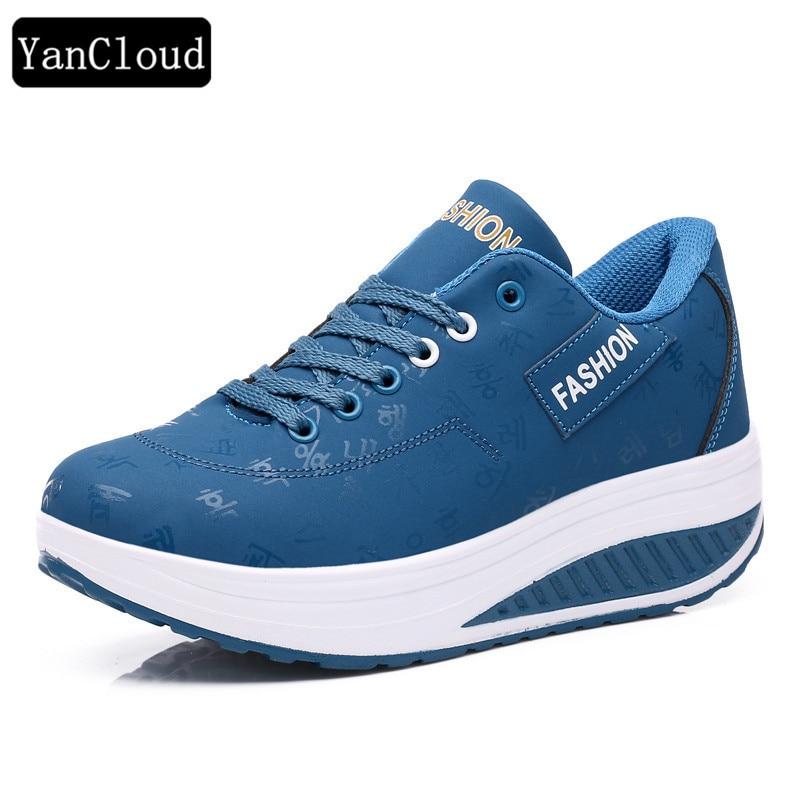 Alta calidad zapatos de plataforma de palabra coreana mujer 2016 - Zapatos de mujer