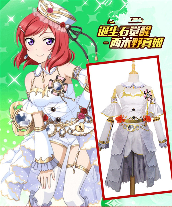 Здесь продается  Love Live Birthstone Cosplay Costume Nishikino Maki Fantasy Dress Free Shipping D  Одежда и аксессуары