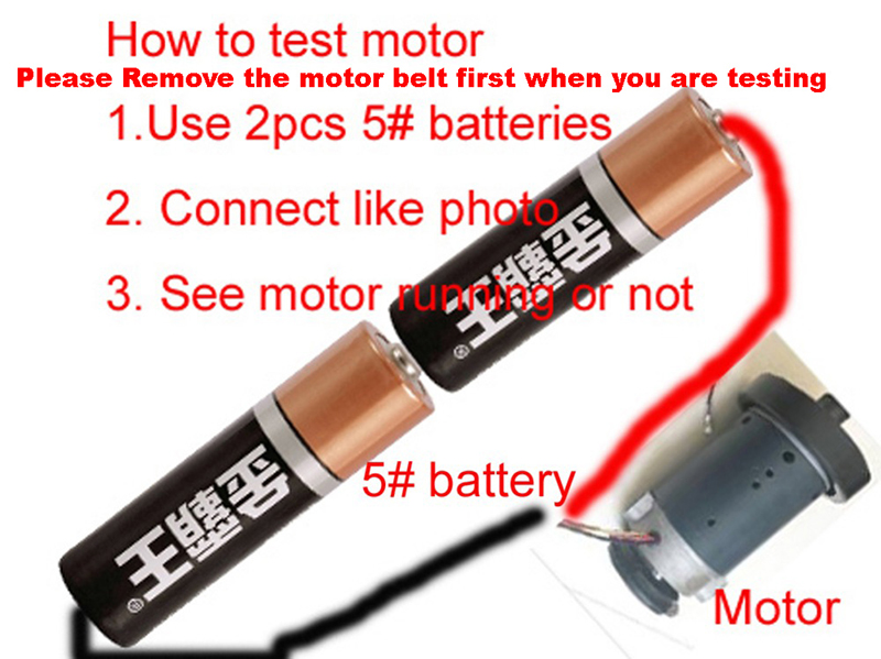 how to testing motor
