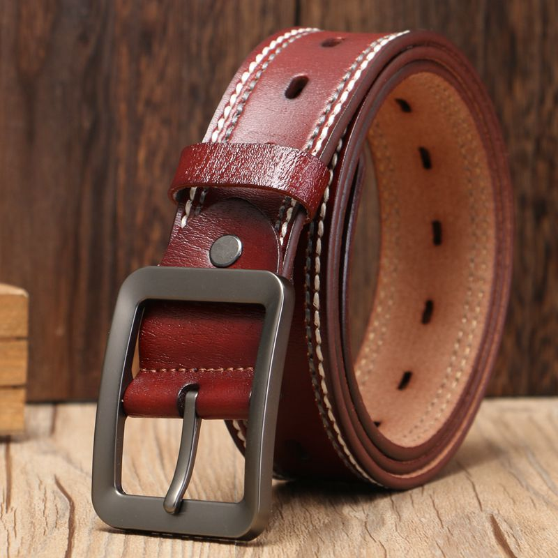2018 brand high quality belts for men pin buckle girdle casual leather belt women size120 cm male black cowboy jeans