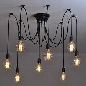 Moderne nordique rétro Edison ampoule lustre Vintage Loft Antique réglable bricolage E27 Art araignée suspension lampe éclairage à la maison