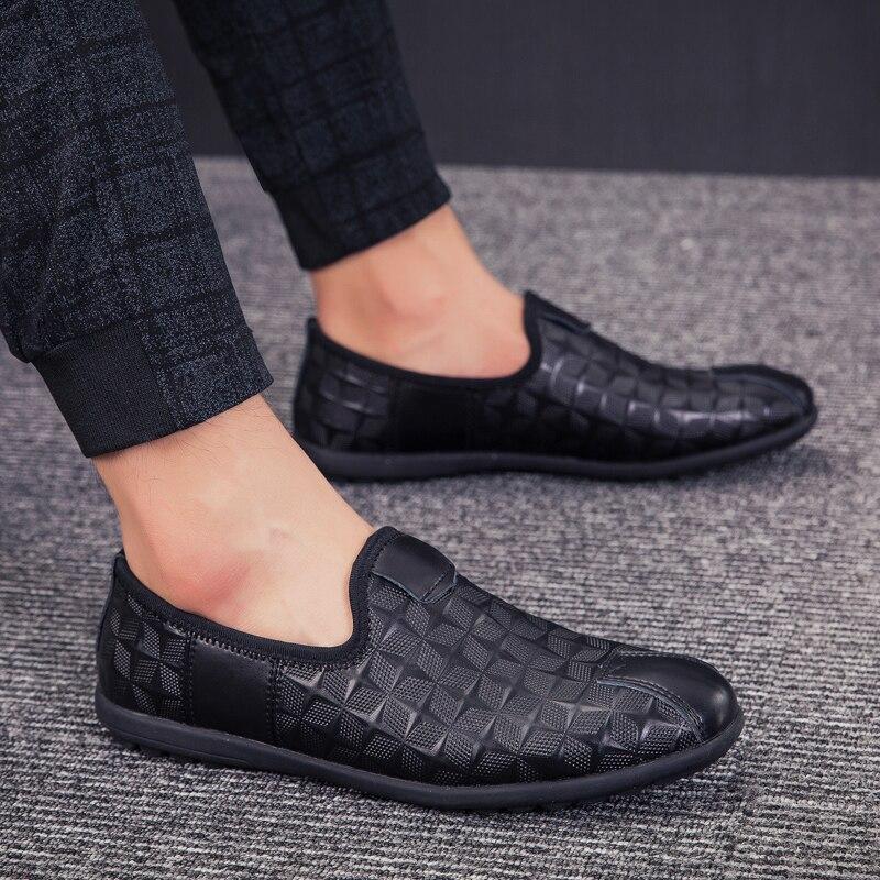 Peso Anti Homens Confortáveis Leve Motorista Pretos Sapatos Novos De Flats Masculinos Preguiçosos Deslizamento Caminhada Casuais Black Jovens 6SBPSn4