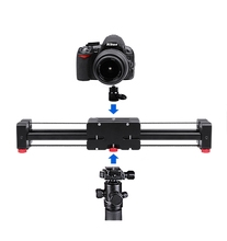 Retractable mini portable travel Camera Slider double distance smooth slider for DSLR camera digital video film shooting