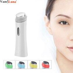 المحمولة الترا سونيك الوجه الأنظف الترددات الراديوية مدلك مع 5 LED أضواء الفوتون سونيك جهاز إزالة التجاعيد جهاز تجميل الوجه