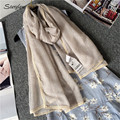 Simple and elegant little fresh lace cape woman with scarf shawl 2017 Super-US cotton dual-use headscarf foulard bijoux D110