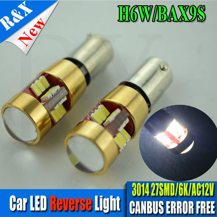 10xWhite 3893 Error Free High Power Samsung 3014LED 27-SMD <font><b>BAX9S</b></font> <font><b>H6W</b></font> Backup Reversing Lights Bulb