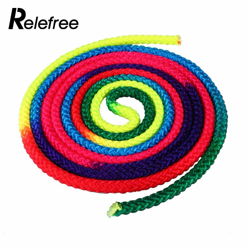 Relefree Popular Artistic Rainbow Nylon Gym Colorful Rope For Skipping  Dance Rope Gymnastics Rhythmic Competition Heavy 39cc9a445ede