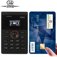 AIEK E1 Russian keyboard Mini Card Low Radiation Single SIM card mobile cell phone PK AIEK M5 Arabic Keyboard