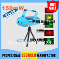 X10 DHL Free Shipping 150MW Mini Red & Green Moving Party Laser Stage Light laser DJ party Twinkle 110-240V 50-60Hz With Tripod