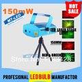 X10 DHL frete grátis 150 MW Mini Red & Green movimento partido Laser luz de palco Laser DJ Twinkle 110 - 240 V 50 - 60 Hz com tripé