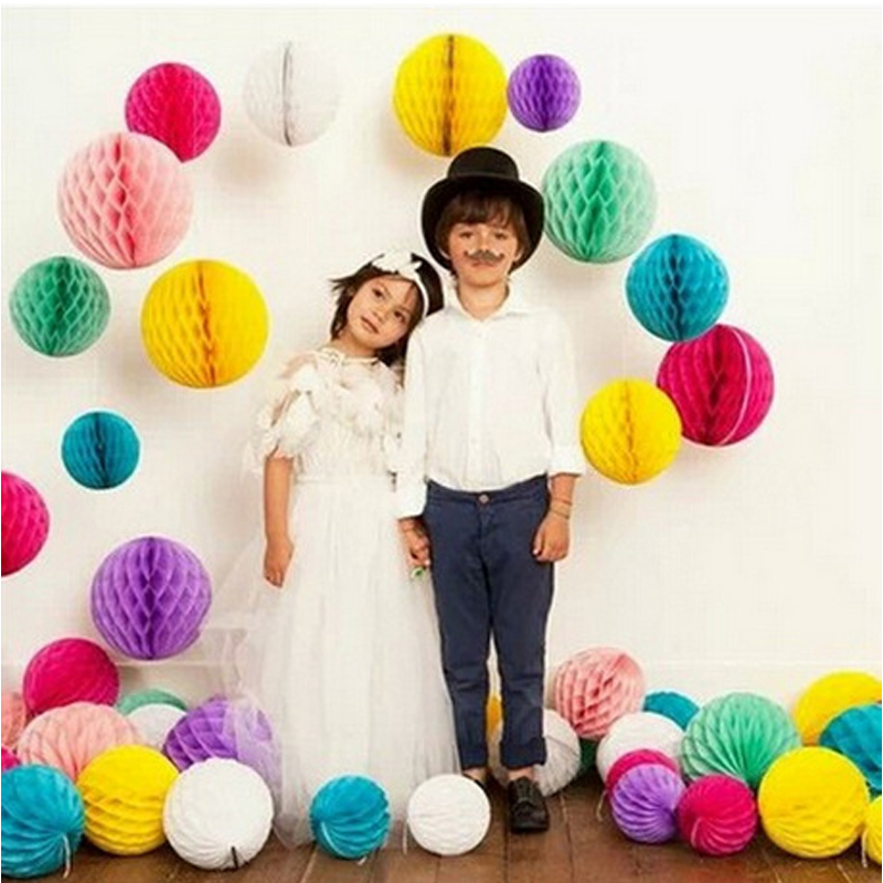 5pieces/a Lot Europe Honeycomb Lantern Paper Flowers Marriage Room Layout Wedding Supplies Party Decorations S $