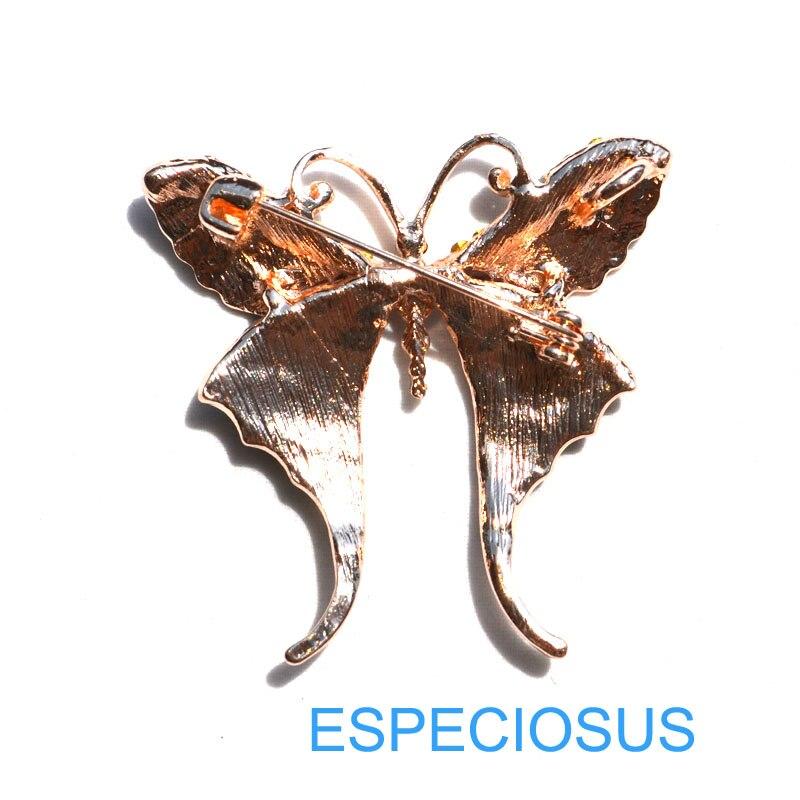 Элегантная булавка золотого цвета для женщин, подарок, Бабочка, стразы, брошь для груди, аксессуары, смешанные цвета, ювелирное изделие, Расписанная брошь Aooly, одежда