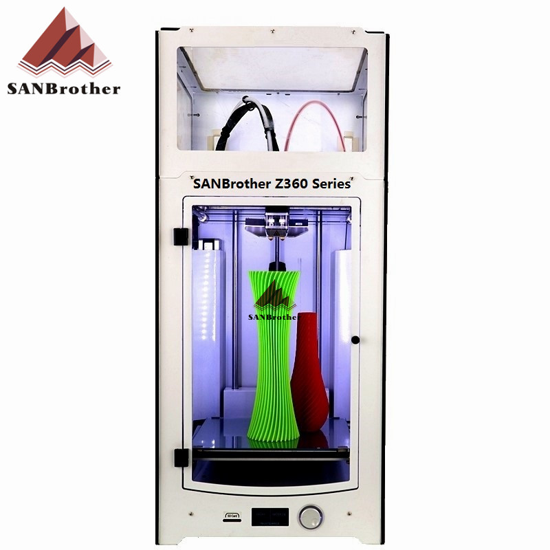 SANJIUPrinter Z360 Dual Extruder Printer With Top Cover and Door More Higher Than Ultimaker 2+ Extended Top Quality. 2017 assembled jennyprinter3 z360ts dual extruder nozzle extended for ultimaker 2 um2 high precision auto leveling 3d printer