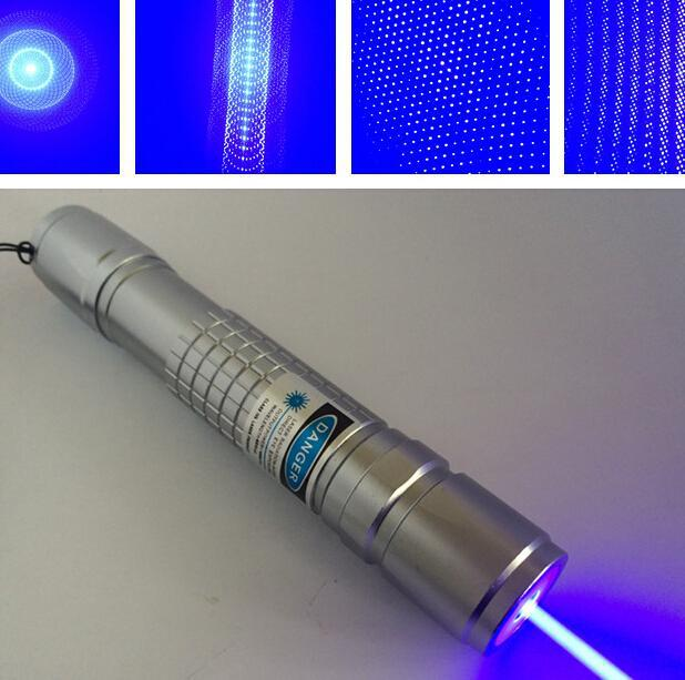 high power 20000mw 20w 450nm blue laser pointer 5in1 focus burning strong,Burn the skin,
