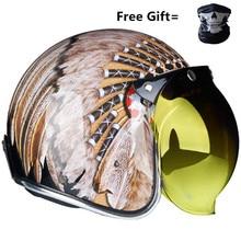 jet helmet motorcycle open face helmet retro personalized motorbike vintage helmet capacete moto helmet DOT цена в Москве и Питере