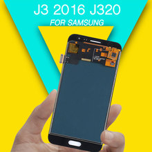 LCD display for repairing for samsung display screen j3 2016 lcd digitizer touch assembly for Galaxy J320m lcd J320 J320F все цены