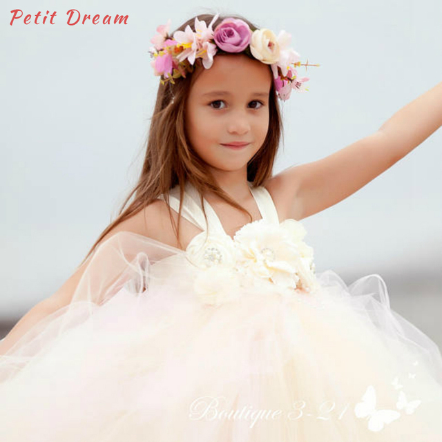 cfaebbbc9f7c0 Petit Dream Blush Pink Champagne Flower Kids Girl Party Dress Great for Baby  Showers Portraits, Special Occasions and Birthdays