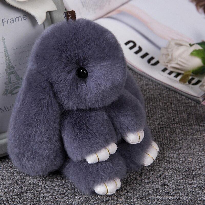 2017 Lindo Fluffy Bunny Llavero juguetes de Peluche Mujeres Baratija - Juguetes para niños - foto 1