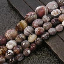 Agates Beads Bracelet Botswana Necklace Jewelry-Making Loose Natural for Potato Gift