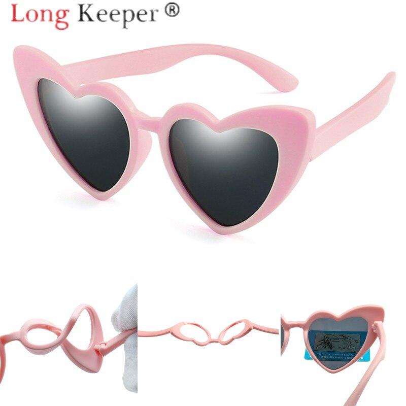 9add93d28 طويلة حارس طفل الفتيات الفتيان يستقطب الأطفال القلب نظارات شمسية PC UV400 النظارات  نظارات لينة عالية
