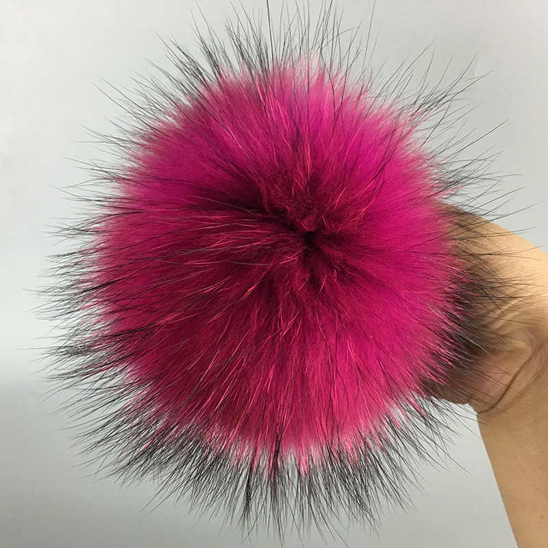 50 peças/set 13 cm chaveiro bola de pele de guaxinim Naturais da pele chapéu De Pele pom pom para sapatos 100% real fur cap acessórios