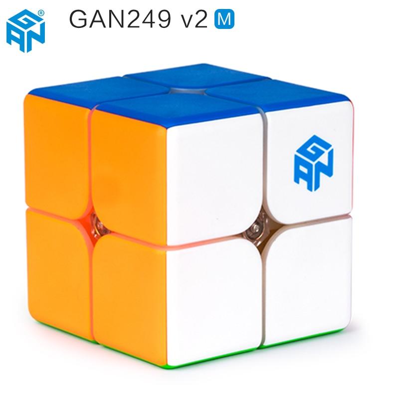 D'origine Gan249 V2 M 2x2x2 Speedcube Magnétique Cube Magique Gan Air Gan 249 V2 M Gan CubePuzzle Jouets Pour Enfants