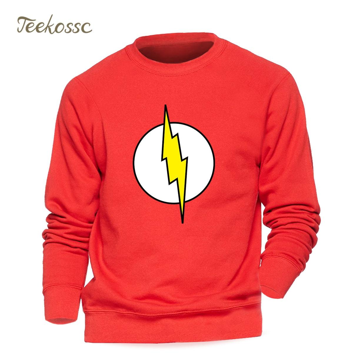 Superman Series The Flash Sweatshirt Men Red Hoodie Gray Sweatshirts Winter Autumn Fleece Warm Graphics Design Streetwear Mens