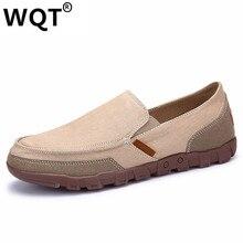 2017 Summer Fashion Men Casual Shoes Breathable Canvas Shoes Men Flats Slip On Men Shoes Casual Zapatos Hombre Plus Size 38-48