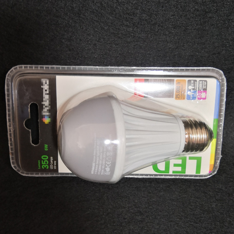 Купить с кэшбэком 6W LED PIR SENSOR Bulb Smart PIR Lamp Human bulb sensor Bulb E27 base high quality special selling