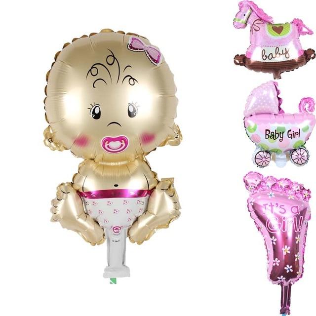 28a7a1b8c29745 List Balony Jego Chłopiec Dziewczyna Chrzest Chrzciny Płeć Ujawnić Baby  Shower Dekoracji Noworodków pierwsze Urodziny Favor