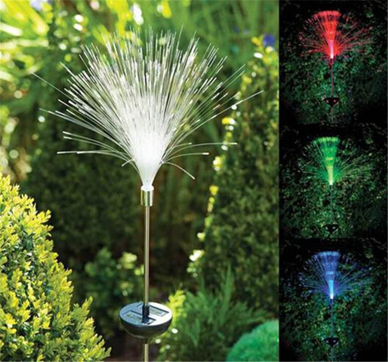 New optic fiber light colour changing led solar power outdoor stake new optic fiber light colour changing led solar power outdoor stake light garden outdoor path lamp for home decor free shipping in holiday lighting from workwithnaturefo