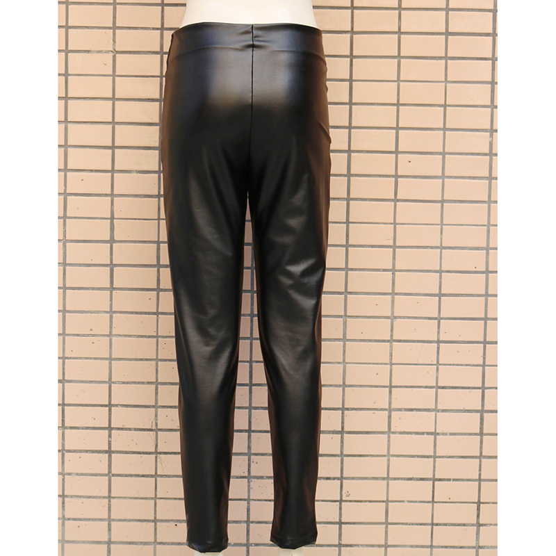 PU Leather pants Women skinny zip up pencil pants High waist leather trousers Summer 2019 sexy pantalones de mujer