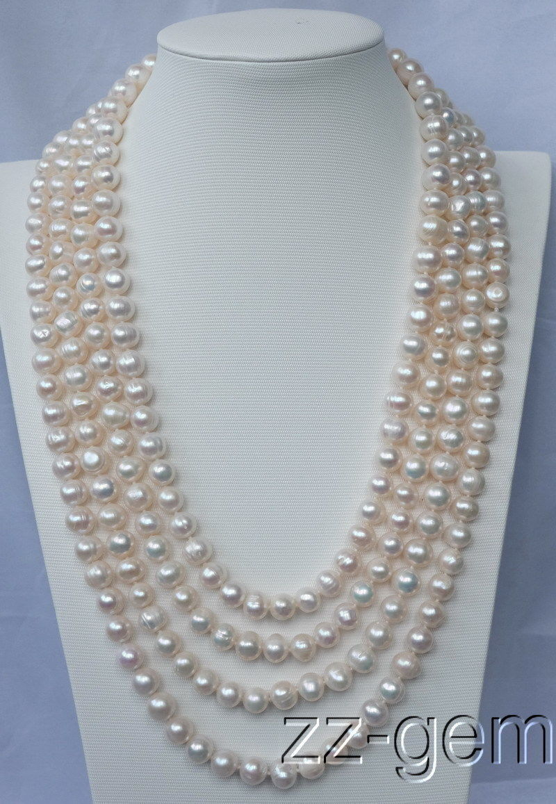 100 natural 10mm White Round FW pearl necklace100 natural 10mm White Round FW pearl necklace