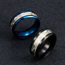 Luminous Dragon Stainless Steel Unisex Rings
