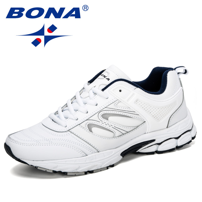 BONA New Running Shoes Men Cow Split Sports Outdoor Sneakers Male Athletic Footwear Zapatillas Walking Jogging Shoes Male
