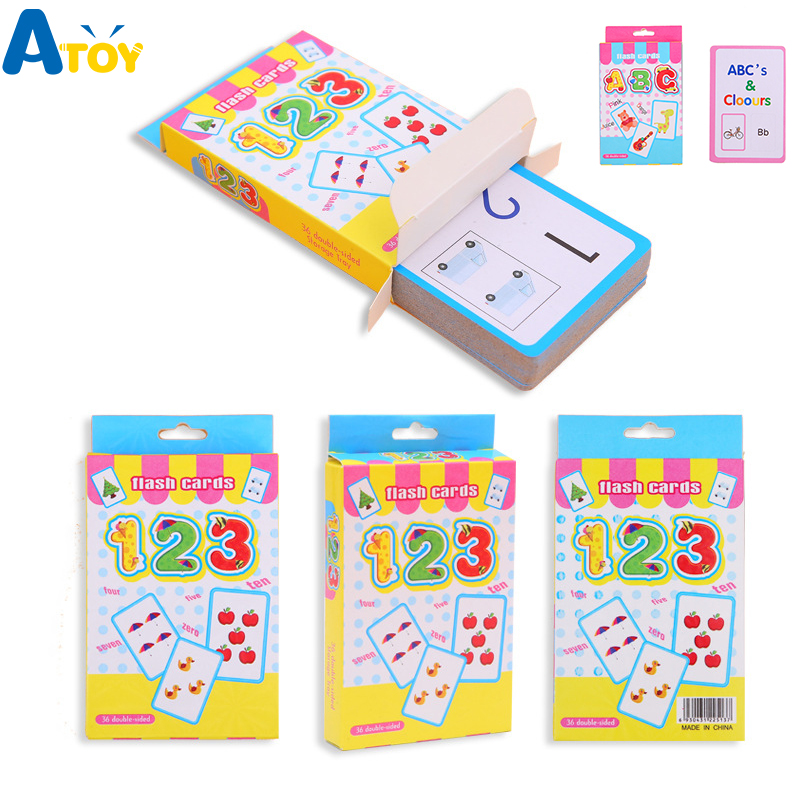 Baby Literacy Game Early Educational Cards Toys English Word Number Math Learning Flash Cards Book Puzzle Card Montessori Toys