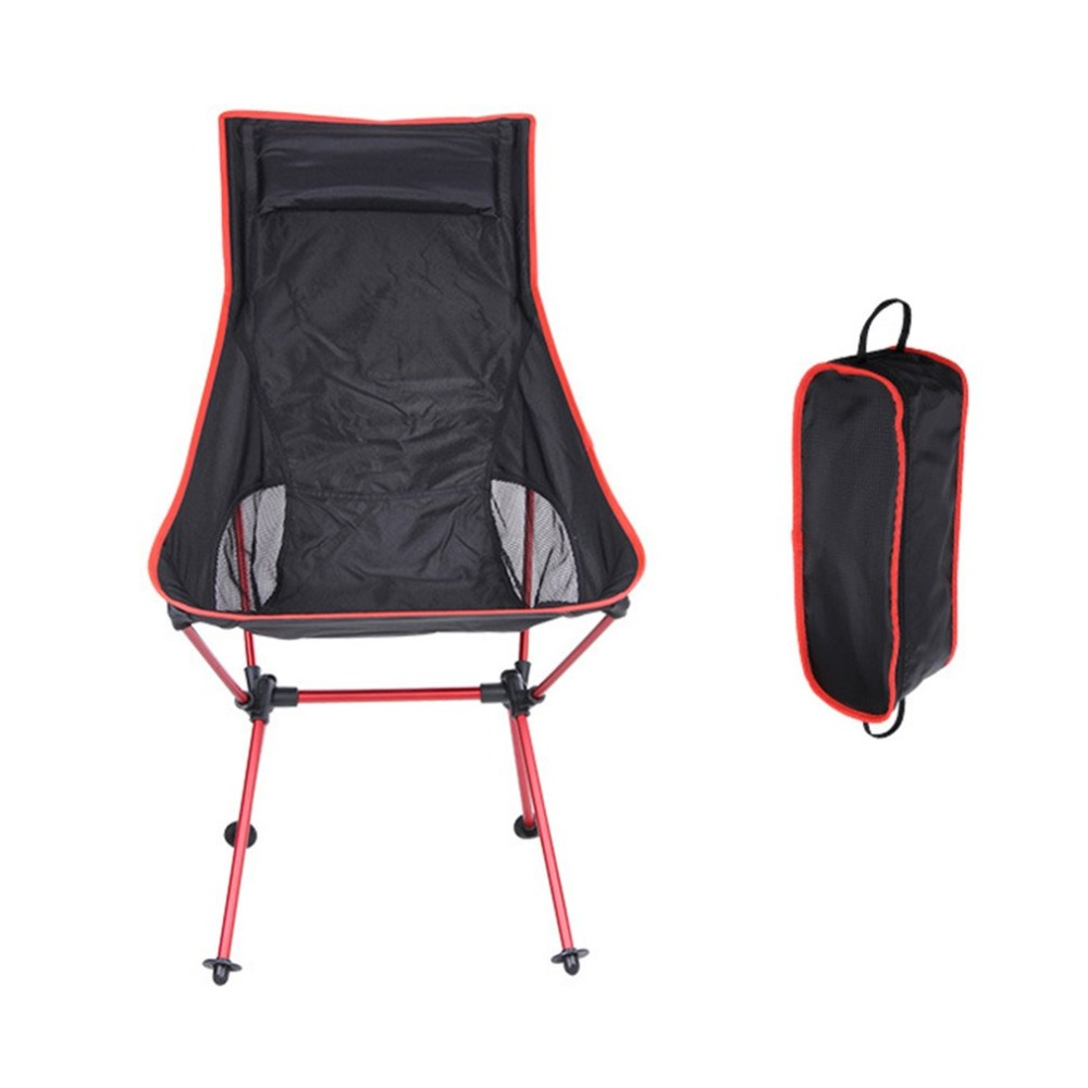 Foldable Fishing Chair Lightweight Outdoor Sport Camping Travelling Chair With Carry Bag Detachable Picnic Chair 40*90*100cm NEW ...