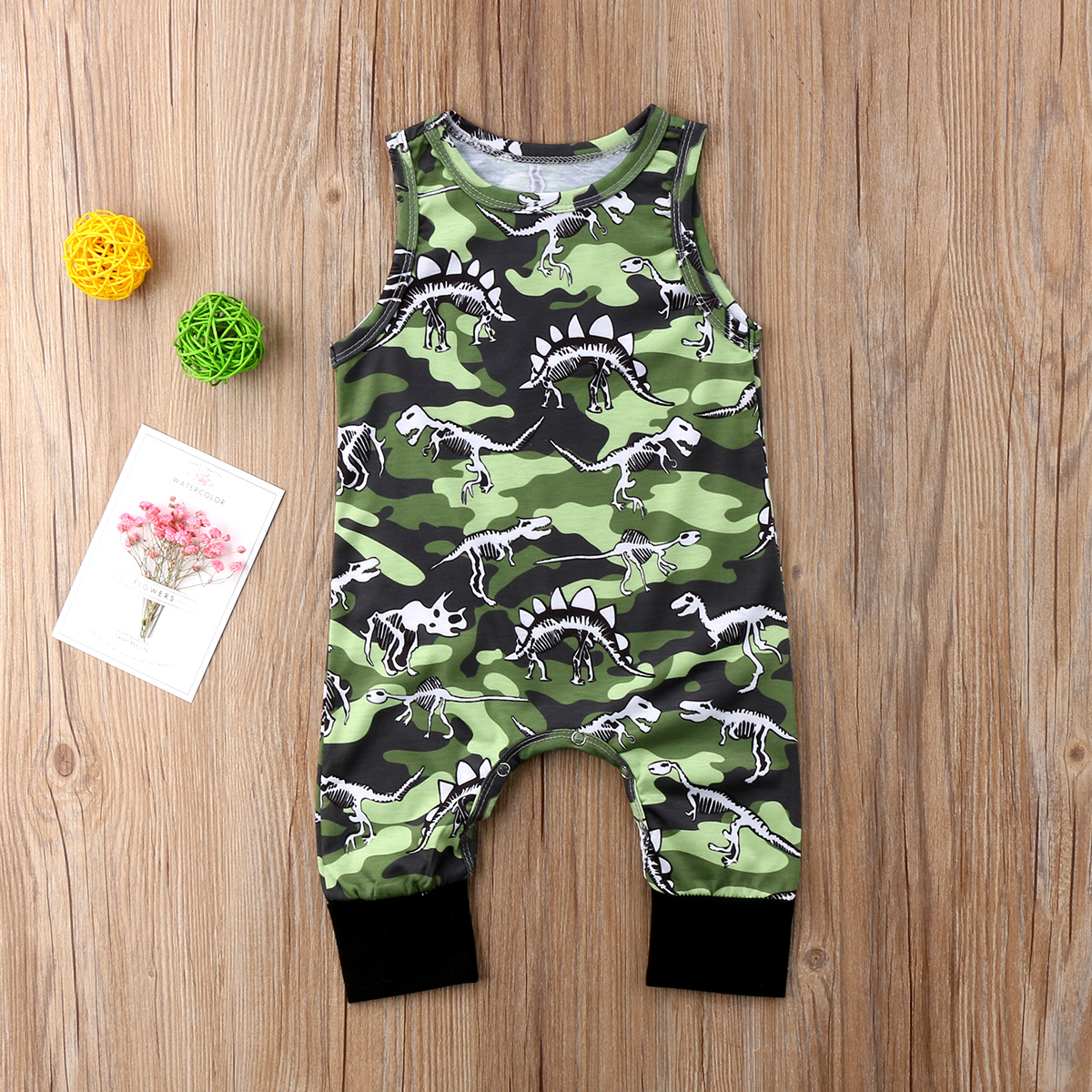 Frank 2018 Toddler Newborn Infant Baby Girls Boys Dinosaur Outfit Clothes Romper Jumpsuit Summer Sleeveless Green Romper Yu A Great Variety Of Models Boys' Baby Clothing Mother & Kids