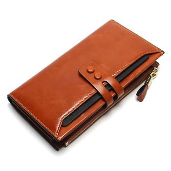 Women's Genuine Leather Clutch Wallet Bags and Wallets Women's Wallets Color: Brown