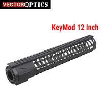 Vector Optics AR .223 Key Mod Tactical 12'' One Piece Free Float Handguard Mount Bracket System with Detachable Rails BLACK