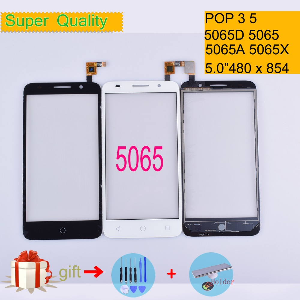 For Alcatel One Touch POP 3 5 OT5065 5065 5065A 5065D 5065X Touch Screen Touch Panel Sensor Digitizer Front Glass Touchscreen