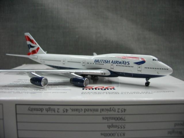 Oferta especial IF500 1: 500 British Airways Boeing 747-400 aviones De Aleación modelo g-civb Favoritos Modelo