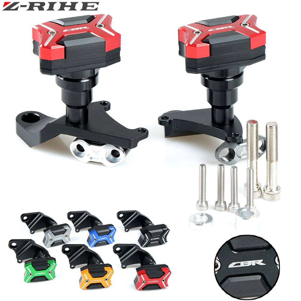 Motorcycle CNC Aluminum Motorcycle Falling Protection Frame Sliders Crash Protector For Honda CBR500R CBR500 2013 2014 2015