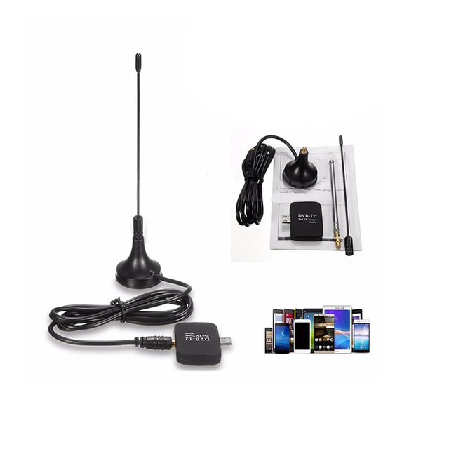 Digital satellite Micro USB DVB-T2 Tuner Tv stick with antenna DVB-T Mobile HD TV Receiver For Android Phone/Pad Support 1080P