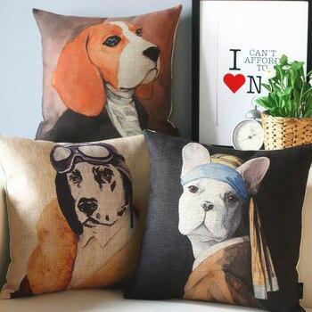 صور الحيوانات الكلب وسادة s ، بسيط جميل الكلب وسادة وسادة ، وسادة تزيين المنزل سائد أريكة